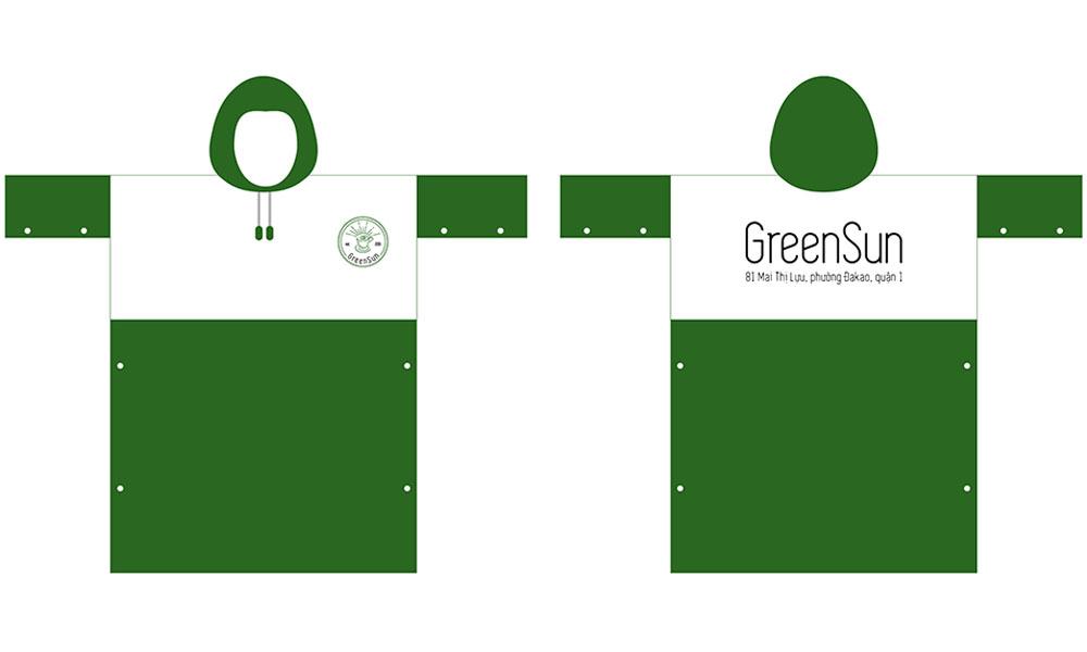Áo mưa quà tặng Green Sun