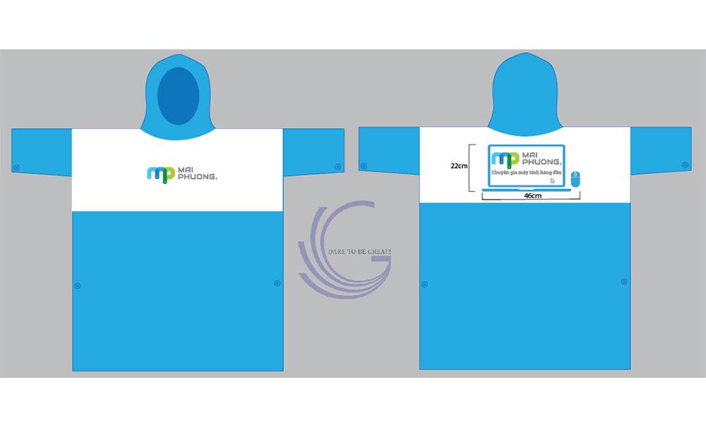 Áo mưa quà tặng in logo