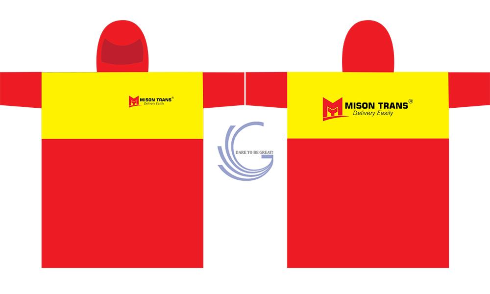 Áo mưa quà tặng dịch vụ vận chuyển Mison Trans